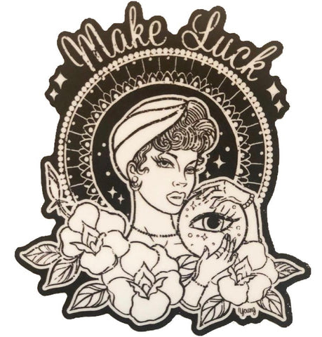 """Make Luck"" Sticker by Andrea V Design"