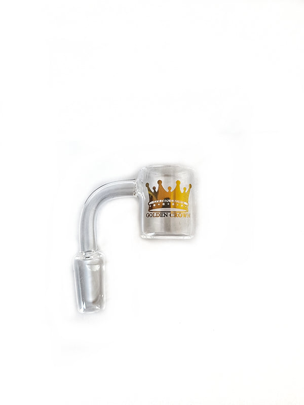 Golden Crown 14mm Flat Top Quartz Banger