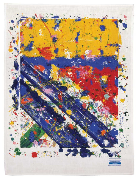 """Slant"" Tea Towel x Sam Francis"