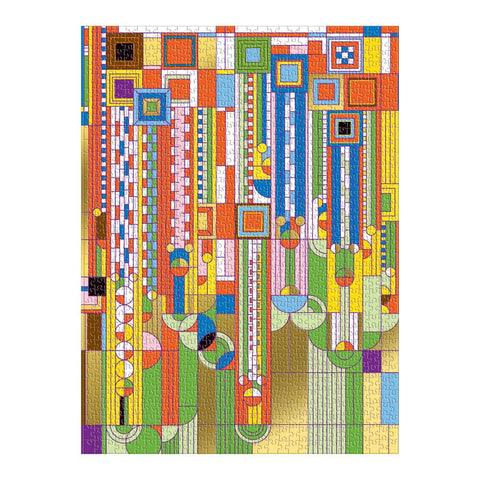 Frank Lloyd Wright Saguaro Forms and Cactus Flowers 1000 Piece Puzzle