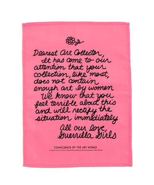 """Dearest Art Collector"" Handkerchief x Guerrilla Girls"