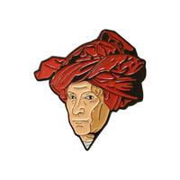 """Portrait of a Man in a Red Turban"" Enamel Pin"