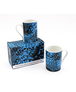"Yayoi Kusama ""Late-Night Chat is Filled with Dreams"" Mug Set"