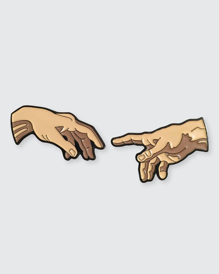 The Creation of Adam Enamel Pin