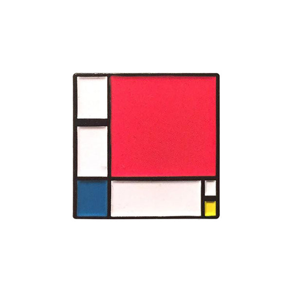 """Composition II in Red, Blue, and Yellow"" Enamel Pin"