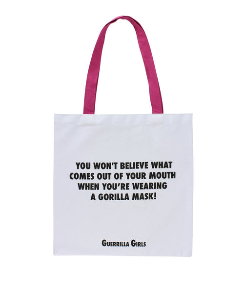 Guerrilla Girls Gorilla Mask and Tote Bag