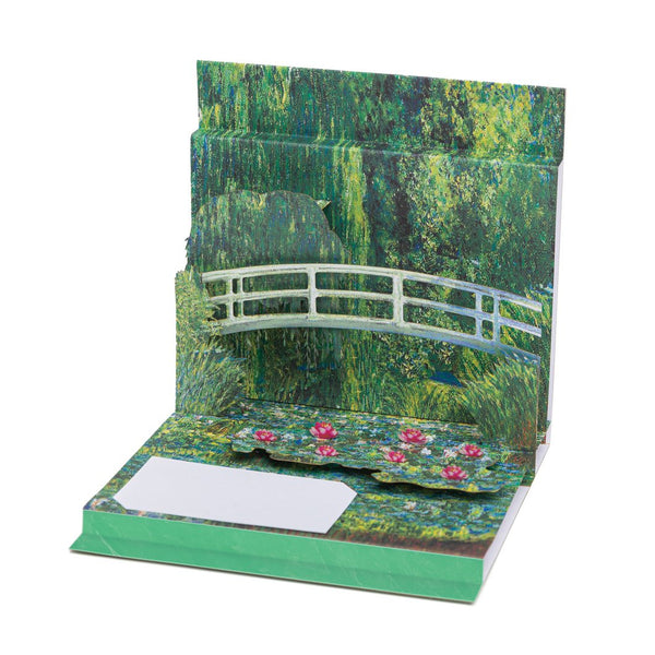 """Water Lilies and Japanese Bridge"" Pop-Up Card"