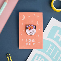Georgia O'Kitty Enamel Pin