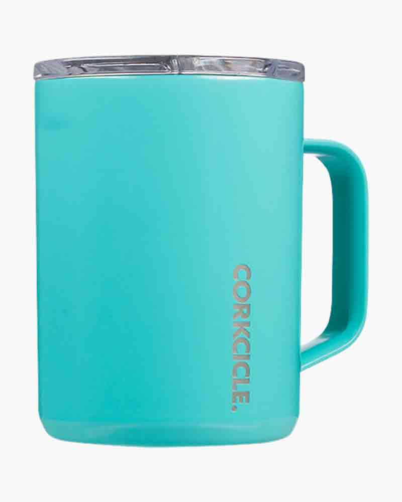 Corkcicle 16 oz. Coffee Mug in Turquoise