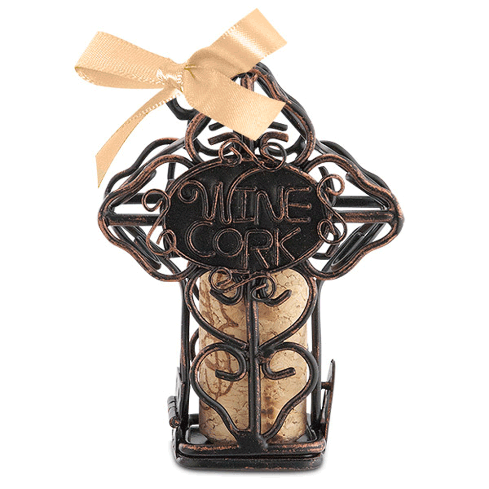 Cross Cork Cage Ornament