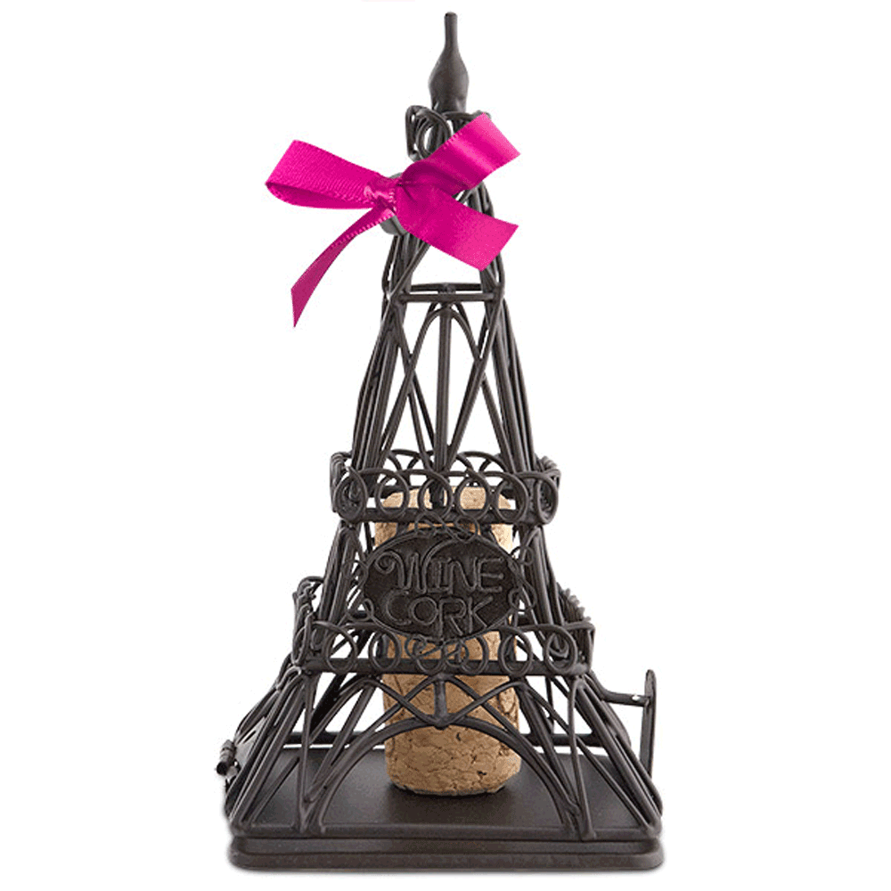 Eiffel Tower Cork Cage Ornament