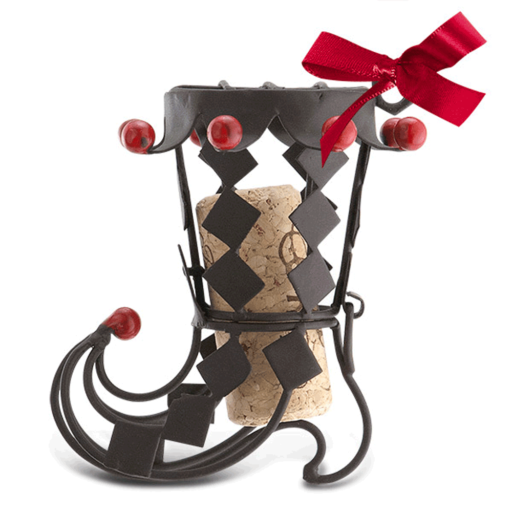 Holiday Boot Cork Cage Ornament