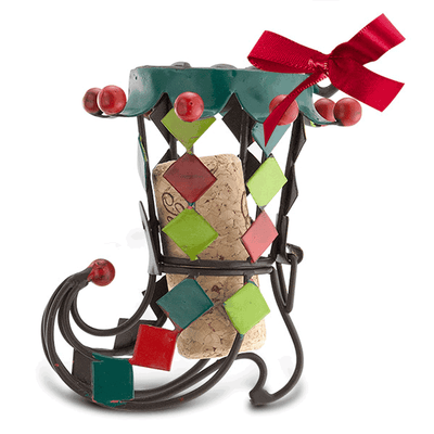 Whimsy Boot Cork Cage Ornament