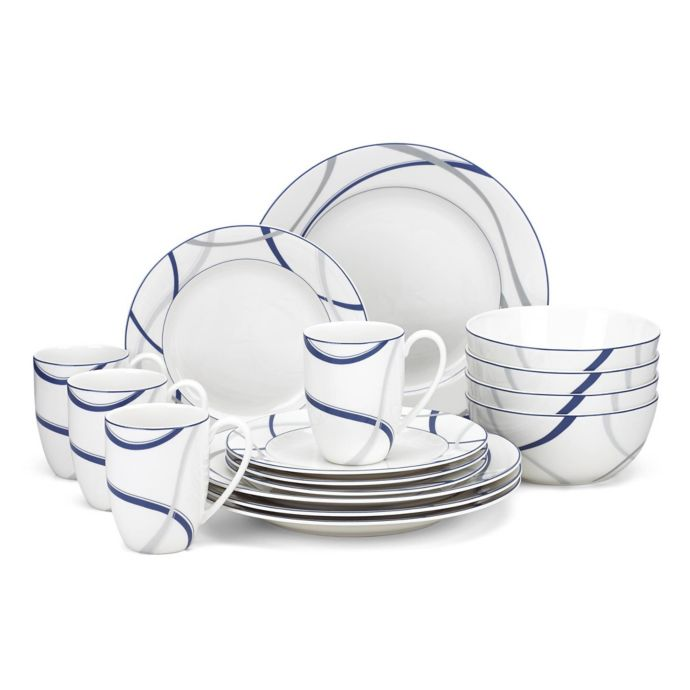 Lenox Vibe 16-Piece Dinnerware Set in Blue