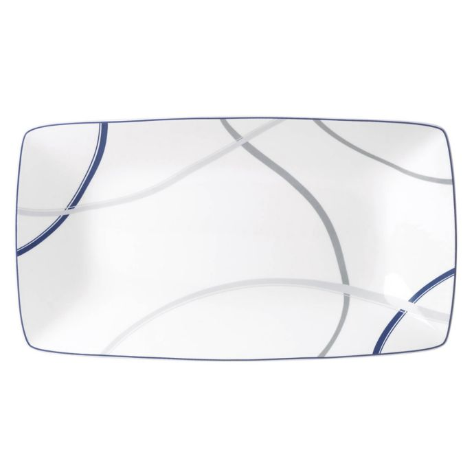 Lenox Vibe Rectangular Platter in Blue