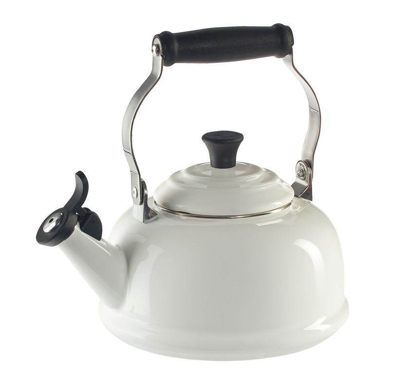Le Creuset 1.7 Quart Whistling Tea Kettle - White