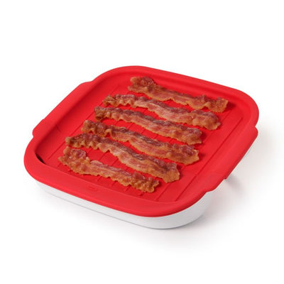 OXO Good Grips Microwave Bacon Crisper in Red/White
