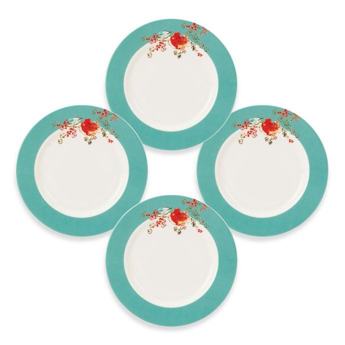 Simply Fine Lenox Chirp Dessert Plates (Set of 4)