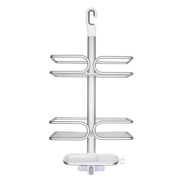OXO Good Grips 3-Tier Shower Caddy in Aluminum