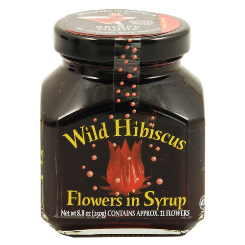 True Fabrications Wild Hibiscus Flowers in Syrup 11 Flower Jar 8.8 oz