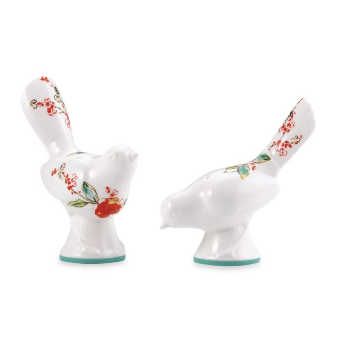 Simply Fine Lenox Chirp Figural Salt and Pepper Set
