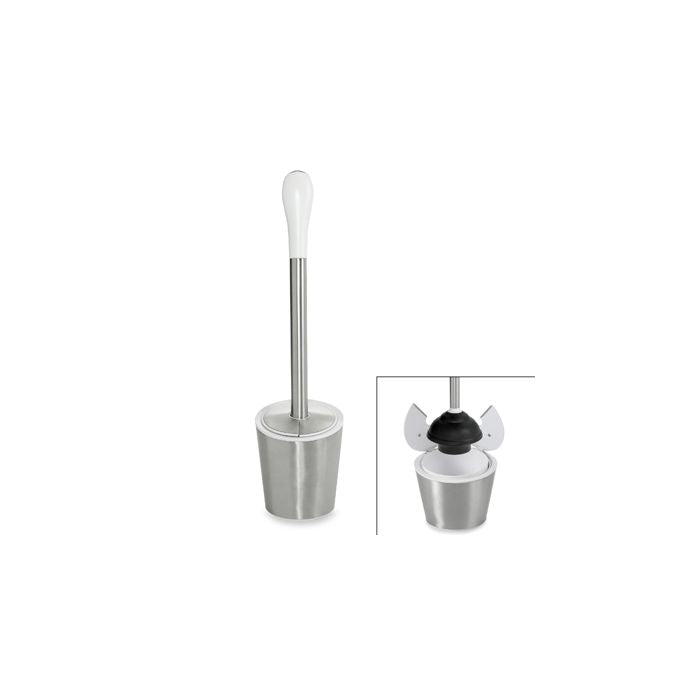 OXO Good Grips Stainless Steel/White Toilet Plunger
