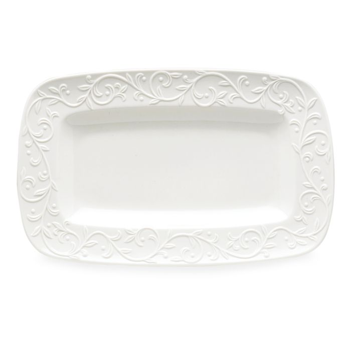 Lenox Opal Innocence Carved Hors D'oeuvres Platter