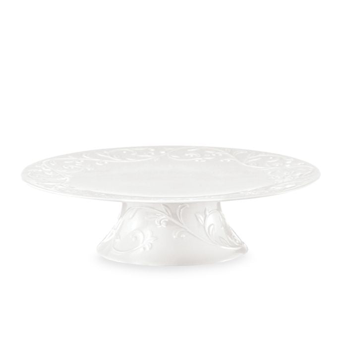 Lenox Opal Innocence Carved 11.25-Inch Footed Cake Plate