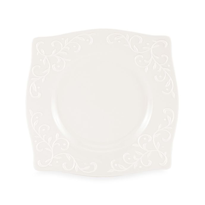 Lenox Opal Innocence Carved Square Accent Plate