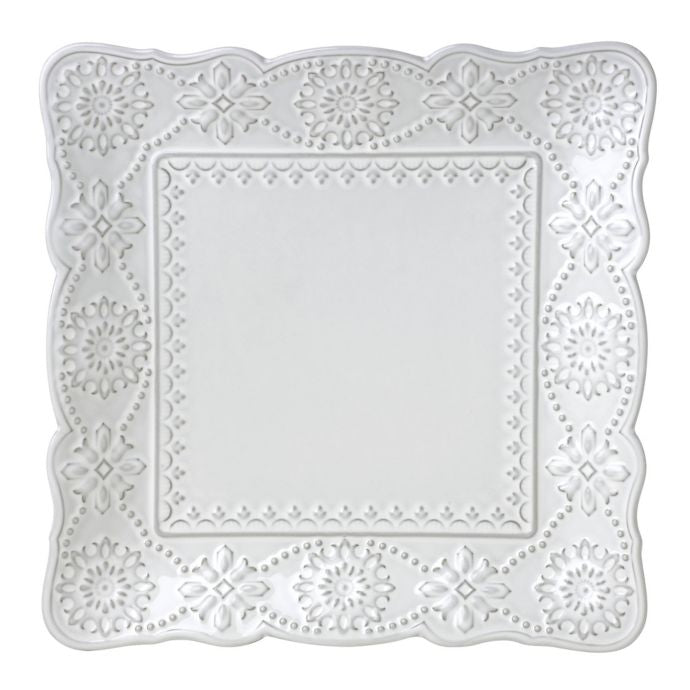 Lenox French Carved Square Dinner Plate