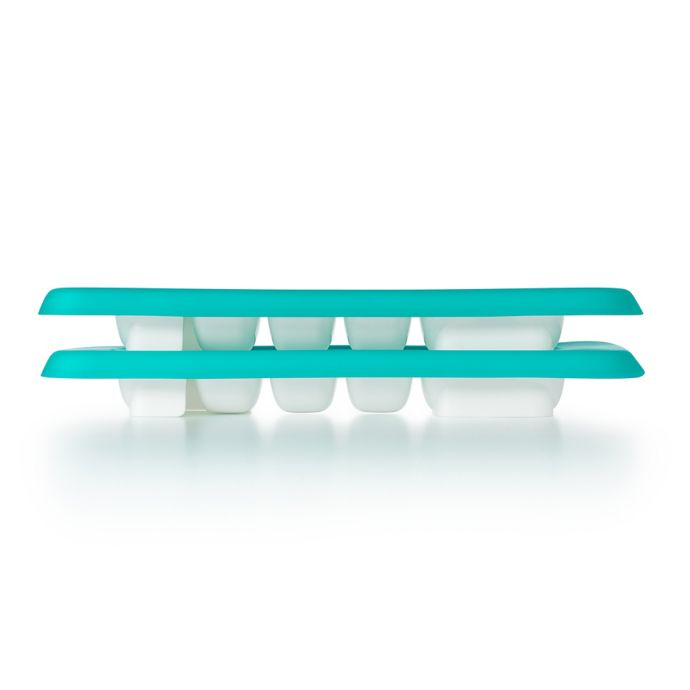 OXO Tot Baby Food Freezer Trays with Silicone Lids in Teal (Set of 2)