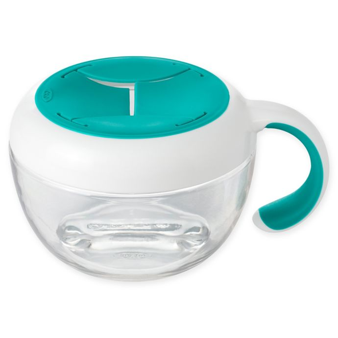 OXO Tot Flippy Snack Cup with Travel Cover in Teal