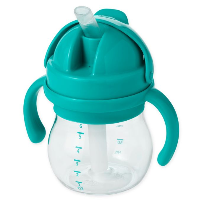 OXO Tot Transitions 6oz. Straw Cup with Handles in Teal