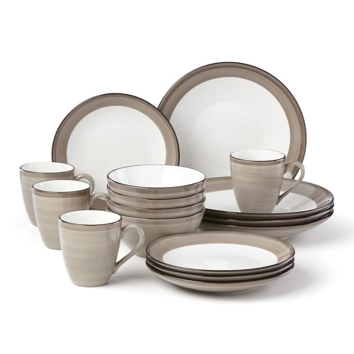 Lenox Park City Brushed 16-Piece Dinnerware Set