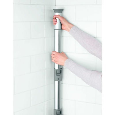OXO 4-Tier Anodized Aluminum Tension Pole Shower Caddy