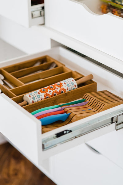Totally Bamboo Expandable Utensil Drawer Organizer