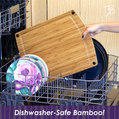 Totally Bamboo GreenLite Splash Series 14 Dishwasher-Safe Cutting & Carving Board