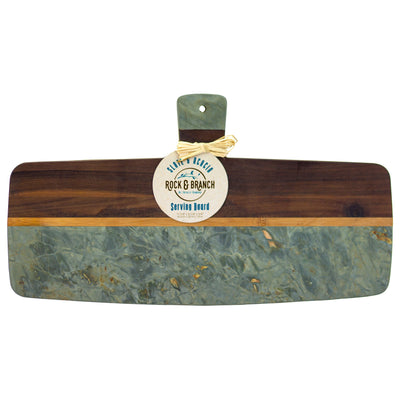 Totally Bamboo Rock & Branch Series Slate and Acacia Serving Paddle