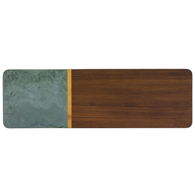 Totally Bamboo Rock & Branch Series Slate and Acacia Serving Board