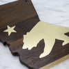 Totally Bamboo Rock & Branch Series California Republic Serving Board