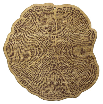 Totally Bamboo 13 Inch  Tree Of Life Serving Board