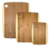 Totally Bamboo 3 pc Two-Tone Cutting Board Set