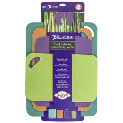 Totally Bamboo Eco-Culinaire 4-Piece Flexible Cutting Mat Set