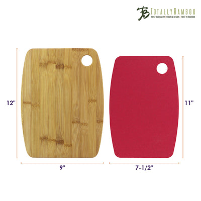 Totally Bamboo Eco-Culinaire Cutting Mat and Bamboo Cutting Board Set