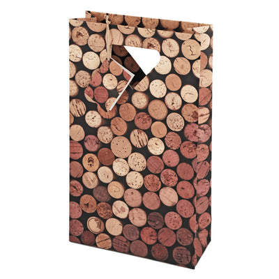 True Fabrications 2-Bottle Corks Wine Bag