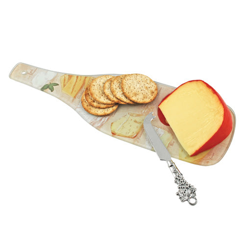 True Fabrications Say Cheese! Glass Cheese Board