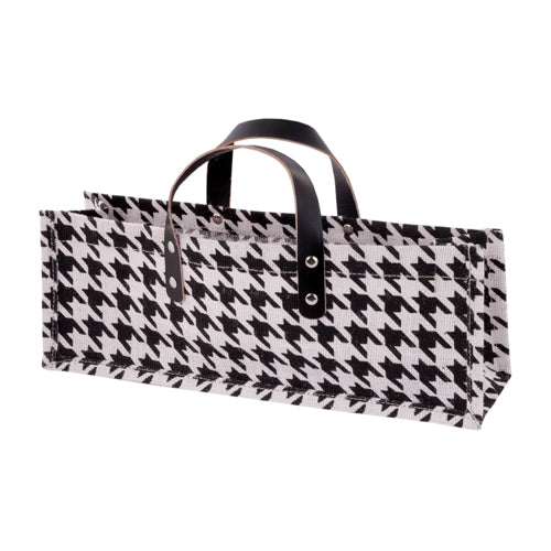 True Fabrications Houndstooth Wine Bag