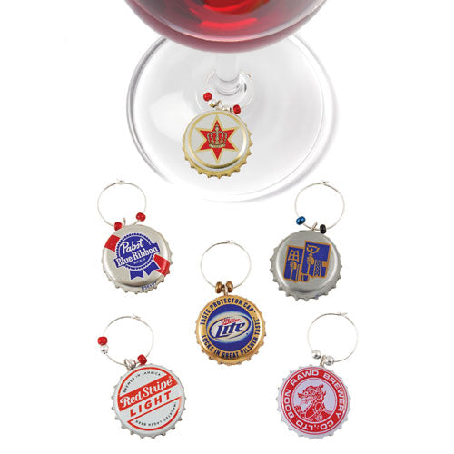 True Fabrications Recycled Beer Cap Wine Charms