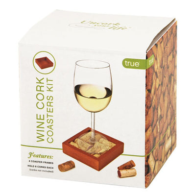 True Fabrications Wine Cork Coasters Kit