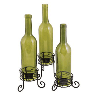 True Fabrications Wine Bottle Candle Holder